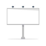 White blank billboard vector template Stock Image