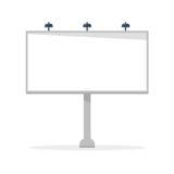 White blank billboard vector template Stock Image