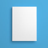 White blank book cover isolated on blue Royalty Free Stock Photography