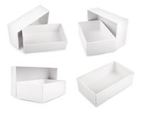 White blank boxes isolated on white background Royalty Free Stock Image