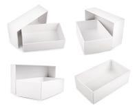 White blank boxes isolated on white background Royalty Free Stock Image