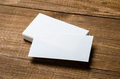 White blank business card stock image