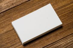 White blank business card stock photo