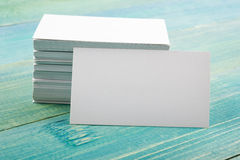 White blank business visit card, gift, ticket Royalty Free Stock Photo