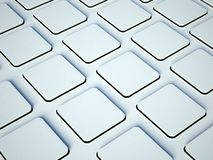 White blank buttons on computer keyboard Royalty Free Stock Photo