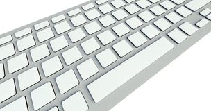 White blank buttons on computer keyboard Royalty Free Stock Images