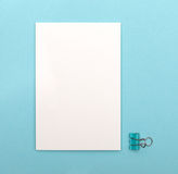 White blank card Royalty Free Stock Photography