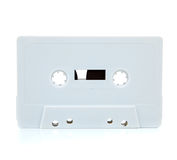 White blank cassette on white Stock Photos