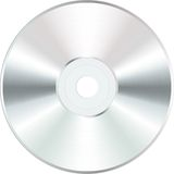 White Blank CD Royalty Free Stock Photos