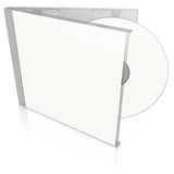White blank cd case and disc Stock Images