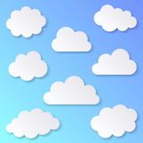 White blank clouds royalty free illustration