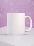 White blank coffee mug ready for your custom design/quote. Mockup Styled Stock Product Image, white mug that you can add your design or quote to stock photo