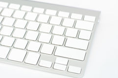 White blank computer keyboard Stock Photography