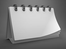 White Blank Desktop Calendar. Stock Photo