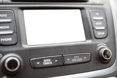 White blank display on the dashboard panel Stock Images