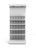 White Blank Empty Showcase 3d render on white Royalty Free Stock Images