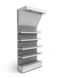 White Blank Empty Showcase 3d render on white Royalty Free Stock Photos