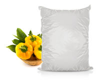 White Blank Foil Food Bag Stock Images