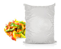 White Blank Foil Food Bag Stock Image