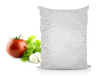 White Blank Foil Food Bag Royalty Free Stock Photography