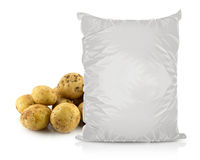 White Blank Foil Food Bag Stock Photos
