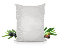 White Blank Foil Food Bag Stock Photography