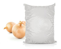 White Blank Foil Food Bag Stock Image