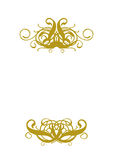 White Blank I. White Blank With Gold Ornament Stock Images
