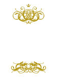 White Blank II. White Blank With Gold Ornament Stock Photos