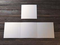 White blank leaflet Stock Photos
