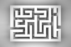 White Blank Maze Stock Photo