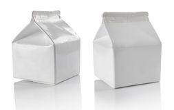 White blank milk box Stock Photography