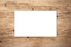 White blank name card. Or business card Royalty Free Stock Photos