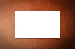 White blank name card. Or business card Royalty Free Stock Photography