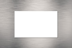 White blank name card. Or business card Stock Photo