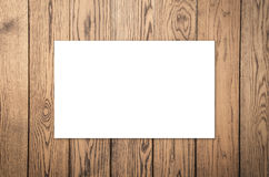 White blank name card. Or business card Stock Images