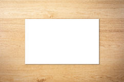 White blank name card. Or business card Stock Image