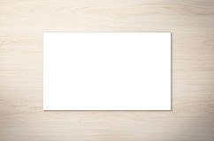 White blank name card. Or business card Stock Photos