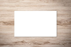 White blank name card. Or business card Royalty Free Stock Image