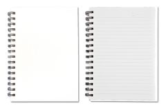 White Blank Note Book Royalty Free Stock Photos