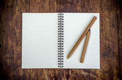 White blank note book Royalty Free Stock Photography