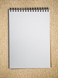 White blank note book vertical Stock Images