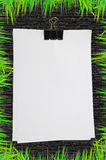 White blank note paper Royalty Free Stock Photos