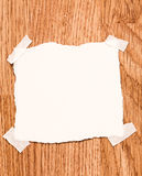 White blank note paper Royalty Free Stock Image
