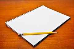 White Blank Notebook Royalty Free Stock Image