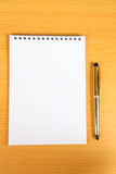 White blank notebook with  pen Stock Photography