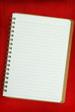 White Blank notebook Stock Photography