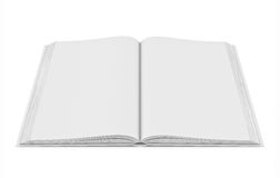 White blank open book on white background. Three-dimensional illustration of white blank open book on white background vector illustration