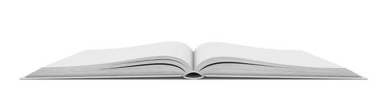 White blank open book on white background royalty free stock photos