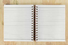 White blank open notebook Royalty Free Stock Photography